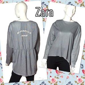 HP🎉 Zara attractive mind pin stripe blouse sz L